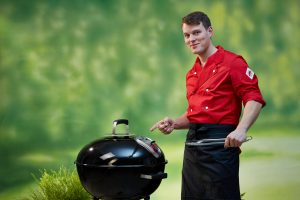 Ein Kugelgrill für BBQ